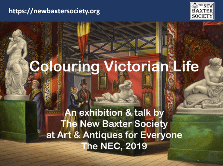 "The New Baxter Society was invited to provide the Feature Exhibition at ""Art & Antiques for Everyone"" in April 2019"