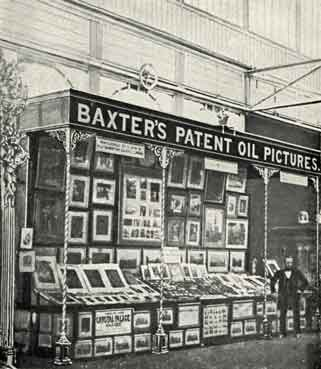 George Baxter on his stand at the Crystal Palace, Sydenham c.1854