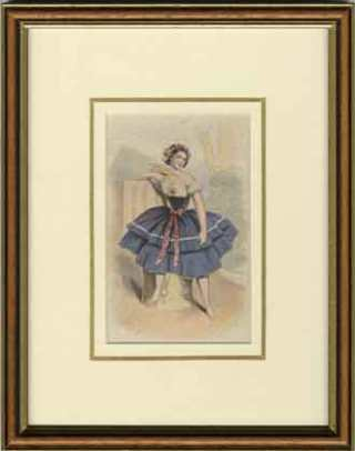 Kronheim Print of a Dancer from the New Hall Vault Sale that has been framed