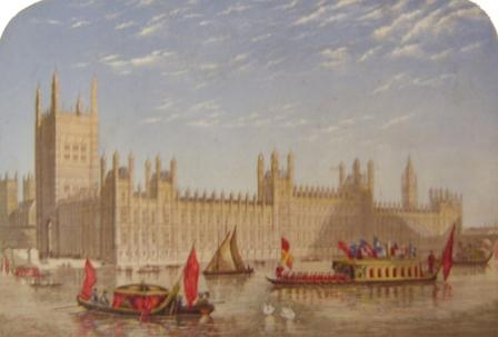 The New Houses of Parliament - printed by Myers & Co