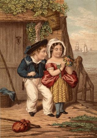Navy Courtship by Joseph Mansell, a somewhat strange print!