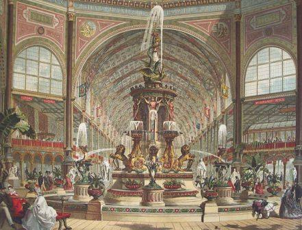 Majolica Fountain at the International Exhibition of 1862 printed by Leighton