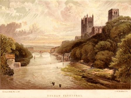 Durham Cathedral printed by Kronheim & Co.