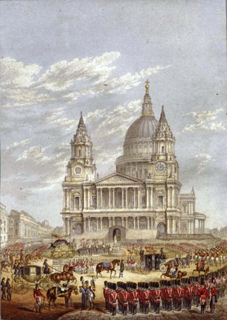 The Funeral of the Duke of Wellington by George Baxter