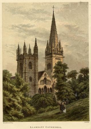 Llandaff Cathedral printed by Kronheim & Co.