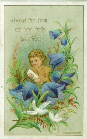 A Chromolithograph Valentine Card by Joseph Mansell