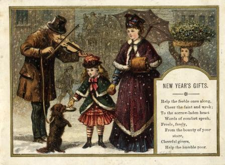 New Year's Gifts, a greeting card by Kronheim
