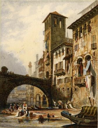 Verona printed by George Baxter