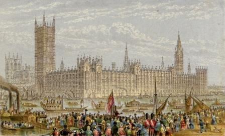 The New Houses of Parliament by Le Blond