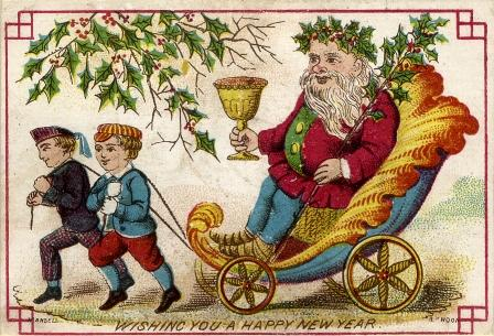 A Chromolithograph Christmas Card by Joseph Mansell