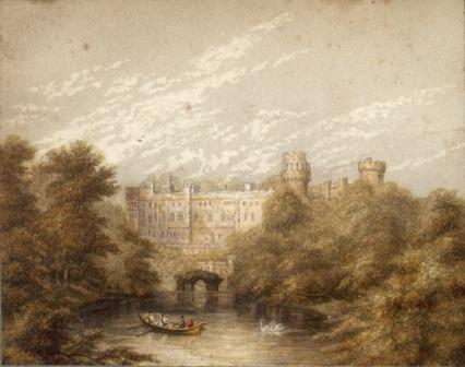 Warwick Castle printed by George Baxter