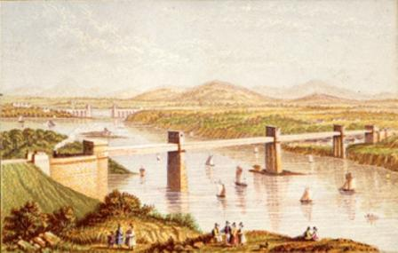The Britannia Bridge by Le Blond