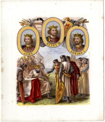 Kings and Queens Of Englend - III printed by Kronheim & Co
