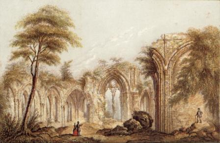Netley Abbey by George Baxter