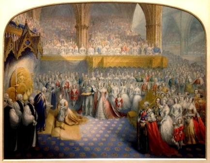 The Coronation of Queen Victoria by George Baxter